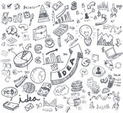 Hand doodle charts. Elements background - Vector illustration Royalty Free Stock Image