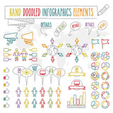 Hand doodled infographics elements Royalty Free Stock Photo