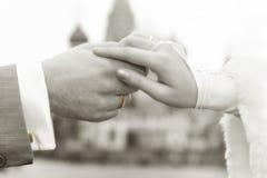 Hand door hand Royalty-vrije Stock Foto
