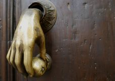 Hand Door Knocker Royalty Free Stock Photos