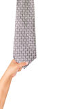 Hand drag necktie Royalty Free Stock Photography