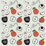 Hand dragen äppleillustration stock illustrationer