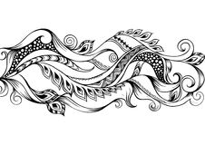 Hand dragen översiktsabstrakt begreppbakgrund vektor illustrationer