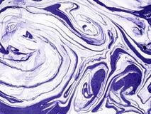Hand dragen abstrakt marmortextur Handgjort med vätskemålarfärg Fotografering för Bildbyråer