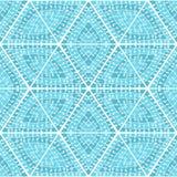 Hand-dragen abstrakt sömlös geometrisk modell royaltyfri illustrationer