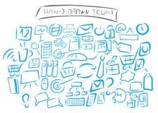 Hand dragen affärssymboluppsättning Stock Illustrationer