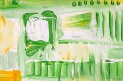 Hand dragen akrylmålning abstrakt konstbakgrund Akrylmålning på kanfas Färgtextur Fragment av konstverk penseldrag Royaltyfri Bild