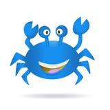 Hand dragen blå krabba Royaltyfria Bilder