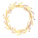Hand dragen blom- krans Royaltyfri Fotografi