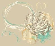 Hand dragen blomma Arkivbild
