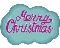 Hand-dragen bokstäver för jul Klottra stil stock illustrationer