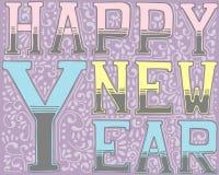 Hand-dragen bokstäver för nytt år Klottra stil vektor illustrationer