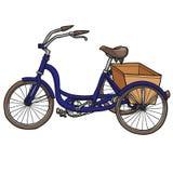 Hand-dragen cykel bakgrund isolerad white Arkivbild