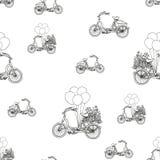 Hand-dragen cykelmodell Det kan vara nödvändigt för kapacitet av designarbete Royaltyfri Bild