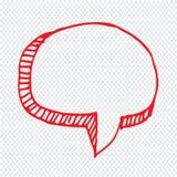 Hand dragen design för symbol för bubblaanförandeillustration arkivbilder
