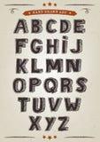 Hand dragen elegant alfabetuppsättning vektor illustrationer