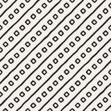 Hand dragen etnisk sömlös modell för stil Abstrakt grungy geometrisk bakgrund i svartvitt arkivfoton