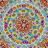 Hand dragen färgrik bakgrund med turkiska motiv Arkivfoton
