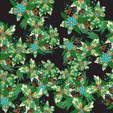 Hand dragen färgrik blom- sömlös modell Royaltyfri Foto