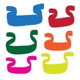 Hand dragen för vektorsymboler för baner fastställd illustration Royaltyfri Foto