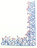 Hand dragen gräns med linjer med prickar royaltyfria foton