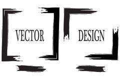 Hand dragen grungeram med utrymme för text Färgpulversudd Grungeborsteslaglängd Vektorborsteslaglängd Texturerat modernt vektor illustrationer