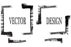 Hand dragen grungeram med utrymme för text Färgpulversudd Grungeborsteslaglängd Vektorborsteslaglängd Texturerat modernt royaltyfri illustrationer