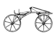 Hand dragen illustration av cykeln Royaltyfri Foto