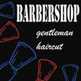 Hand-dragen illustration för frisersalong stock illustrationer