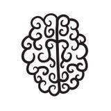 Hand dragen illustration för hjärnuppsättningsymbol Royaltyfria Foton
