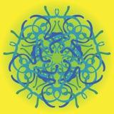 Hand dragen illustration för vektor för prydnad för mandalaabstrakt begreppcirkel Royaltyfria Bilder