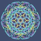 Hand dragen illustration för vektor för prydnad för mandalaabstrakt begreppcirkel Royaltyfria Foton