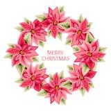 Hand dragen julstjärnaram royaltyfri illustrationer