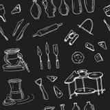 Hand dragen keramisk gruppuppsättning för klotter Fotografering för Bildbyråer