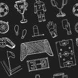 Hand dragen klotterfotbolluppsättning Arkivbilder