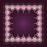 Hand-dragen lotusblomma i östlig stil Royaltyfri Bild