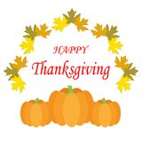 Hand dragen lycklig tacksägelseaffisch Arkivbild