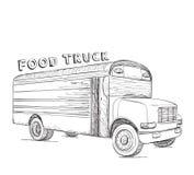 Hand dragen matlastbil stiligt för bakgrundsaskleverans som isoleras över servicewhitearbetare Arkivbilder