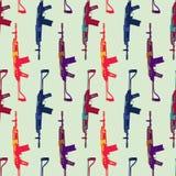 Hand dragen modell för popkonst med colorfull stock illustrationer