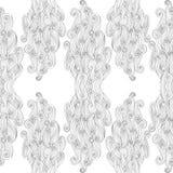 Hand-dragen modell för vektor abstrakt begrepp med vågor och moln Vit bakgrund Ändlös vit bakgrund Royaltyfri Fotografi