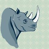 Hand dragen noshörning Arkivfoto
