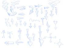 Hand dragen pil royaltyfri illustrationer