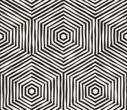 Hand dragen randig sömlös modell för svartvitt färgpulver Textur för vektorgrungegaller Monokrom borsteslaglängdlinje vektor illustrationer