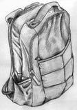 Hand dragen ryggsäck stock illustrationer
