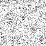 Hand dragen sömlös bakgrund för undervattens- värld royaltyfri illustrationer