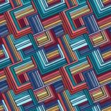 Hand-dragen sömlös geometrisk prydnad av remsor Arkivbild