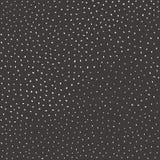 Hand dragen sömlös modell i enkel stil med vitprickar, punkter och klickar på mörk grå bakgrund Royaltyfri Foto