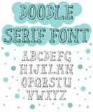 Hand dragen seriffstilsort för olika designer royaltyfri illustrationer