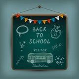 Hand-dragen skolauppsättning. Royaltyfri Fotografi