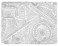 Hand-dragen svartvit labyrint, klotter, vektor Arkivfoto